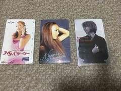 安室奈美恵テレホンカード2枚と図書カード1枚3点set