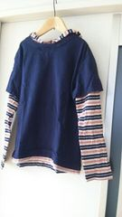 UNIQLO☆重ね着風フード付きTシャツ☆150�a