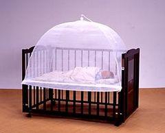 新品 送料無料 ベビーかや 日本製蚊帳 ベッド用 折りたたみ式