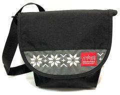 マンハッタンポーテージ メッセンジャーバッグ 刺繍ブラック S