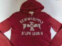 【RALPHLAUREN DENIM & SUPPLY】フルジップパーカーUS S RED