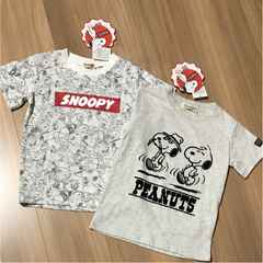 新品タグ付き110半袖Tシャツスヌーピー2枚セット�E