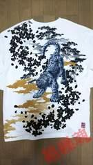 セール 新品 [ 絡繰魂 ]和風景 雪豹(ユキヒョウ)長袖Tシャツ スカジャン好きにも