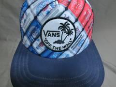 バンズ 南国風ワッペン刺繍付 ビール缶デザイン メッシュCAP
