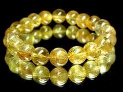 【金運・勝負運】大人気!ゴールドルチル10ミリ数珠ブレス