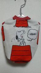 ハンドメイドスヌーピーTシャツ白・赤・バイカラー・犬用S