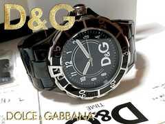 極美品【箱・購入証明・コマ付】ドルガバ【D&G】大型メンズ腕時計
