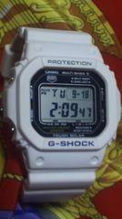 カシオGW-M5600タフソーラー電波腕時計スピードモデルGショック白マリンホワイトカラー