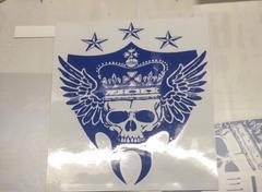 ハンドメイド 三代目 ロゴ 青色