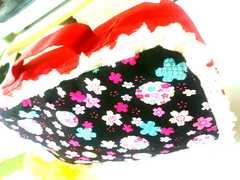 評価960記念セール!ハンドメイド★オムツポーチ★化粧ポーチ★[桜×マリ柄]1点