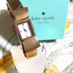 【Kate spade】リボンラグケース クオーツ腕時計 WH-714