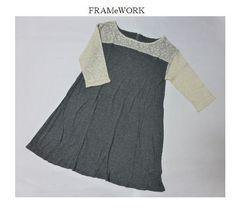 フレームワーク*FRAMeWORK★レースワンピース/新品 グレー