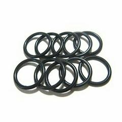 ラバーリング ゴムリング 指輪 (15号) 黒 5本SET