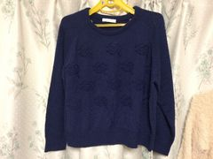 LOWRYS FARMローリーズファーム青色ブルーネイビー長袖セーター