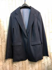 新品☆LLトールサイズ紺きれいめテーラードジャケット☆s632
