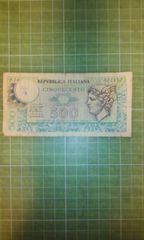 イタリア旧500リラ札♪