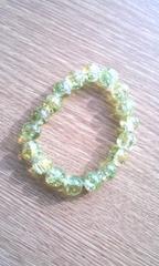 〓ガラス玉〓ブレスレット〓黄緑〓