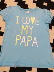 OLDNAVY キッズ ロゴ入りTシャツ ブルー 女の子 5歳110cmぐらい