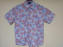 即決USA古着CODE ONE総柄デザイン半袖シャツ!アメカジハワイアン