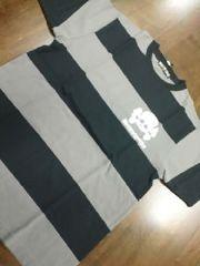 新品★ヘルキャットパンクス★ボーダーTシャツ★黒×グレー★