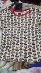 ヒスミニ&ママ総柄派手Tシャツ120