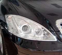 ベンツ メッキヘッドライトリング W221