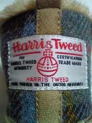 HARRIS TWEED ハリスツイード ムートンブーツ 靴 ショート ブーツ BEIGE 箱 Lサイズ