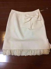 ディアマンテ ビックリボンスカート オフホワイト