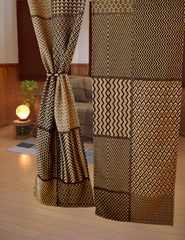 アフリカンモチーフ 暖簾 のれん 厚手 伝統的 織物 コンゴ共和国 クバ王国