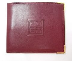 確実本物保証美品ジバンシィ レザー製2つ折財布