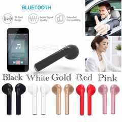 Bluetooth イヤホン ワイヤレス マイク 両耳 USB 充電 ピンク