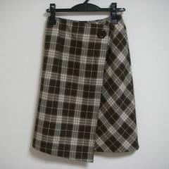 巻き風 スカート 茶系 W61