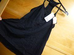 ユニクロ女性ブラトップMカップ付きハイバックキャミ黒新品