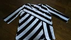 Llickett 五分袖 Tシャツ生地 白黒