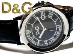 良品 1スタ★ドルガバ【ドルチェ&ガッバーナ/D&G】大型 腕時計