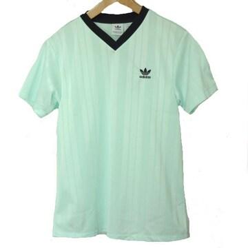 新品◆送料無料◆adidasアイスミントグリーンVネックTシャツ(M)