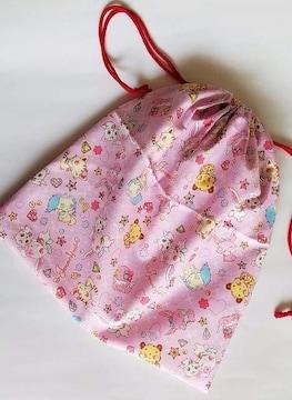 15T連休特価◆ ジュエルペット 体操服入れ巾着 着替え袋(^o^)ハンドメイド