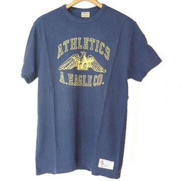 新品◆送料無料◆AmericanEagle 紺色イーグルロゴTシャツ(M)