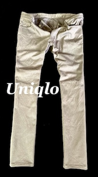 【UNIQLO】ユニクロ ストレッチスリムフィットジーンズ 34/Gray