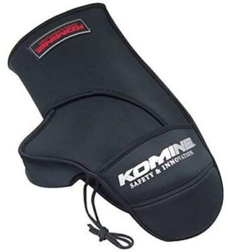 ブラック コミネ(Komine) バイク用ハンドルカバー ネオプレンウ