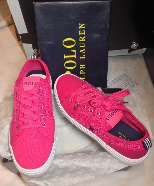 新品/ポロラルフローレン/ブランドロゴアイコンスニーカー女性靴 < ブランドの