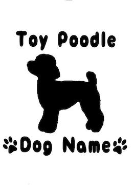 犬 ドック(ネーム入り)トイプードル カッティングステッカー