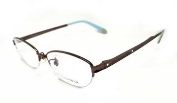 正規未使用ティファニーメガネ眼鏡ブラウンチタンTITANIUMラ