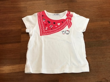 『familiar』可愛いプリント柄Tシャツ100 日本製