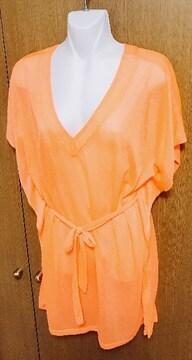 H&M*蛍光色オレンジ トップス xs