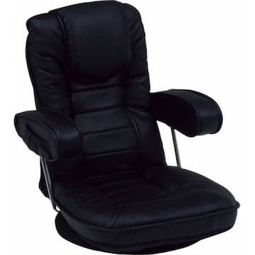 座椅子(ブラック) LZ-1081BK