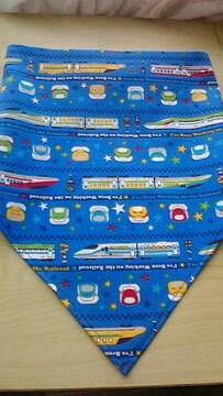 新幹線後ろゴム入り三角巾フリーサイズ