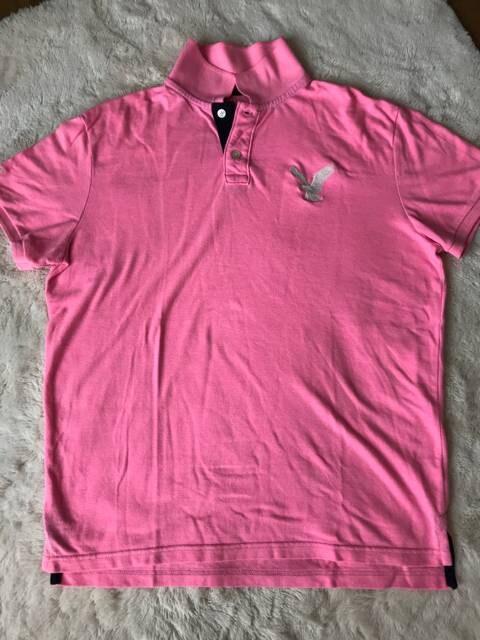 アメリカンイーグル オシャレピンクポロシャツ  Lサイズ  < ブランドの