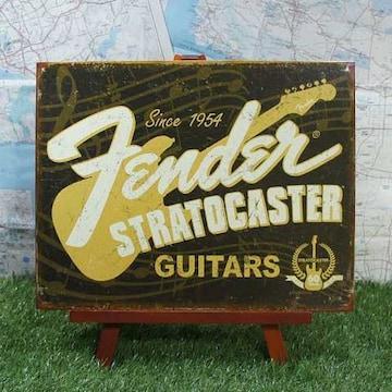 新品【ブリキ看板】フェンダー・ストラトキャスター Guitars