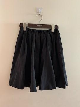 トレコーデ ボリュームたっぷりフレアミニスカート 黒